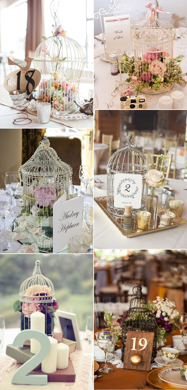 Chic Wedding Table Number Ideas Inspired by birdcages