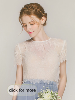 Delicate Ivory Lace Top for 2017 weddings
