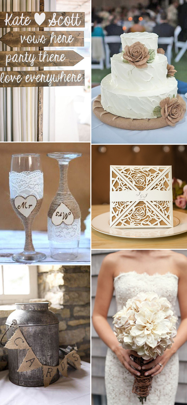 burlap decorating ideas for weddings 36 ways to decorate 2017 rustic weddings stylish 2137