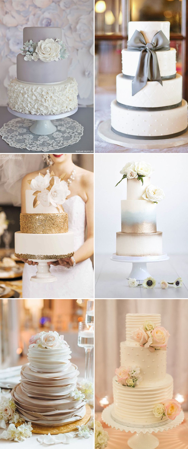 stunning and chic wedding cakes ideas