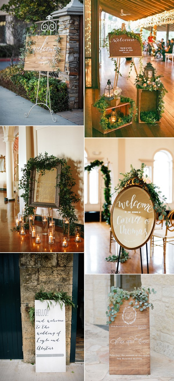trending-greenery-wedding-welcome-signs-ideas-2017