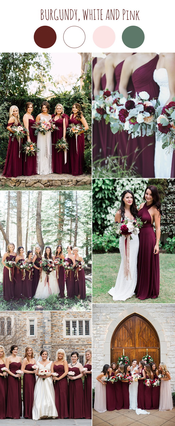 trendy burgundy bridesmaid dresses for wedding 2017