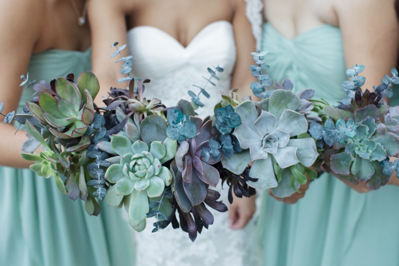 Small And Unique Succulent Wedding Bouquets