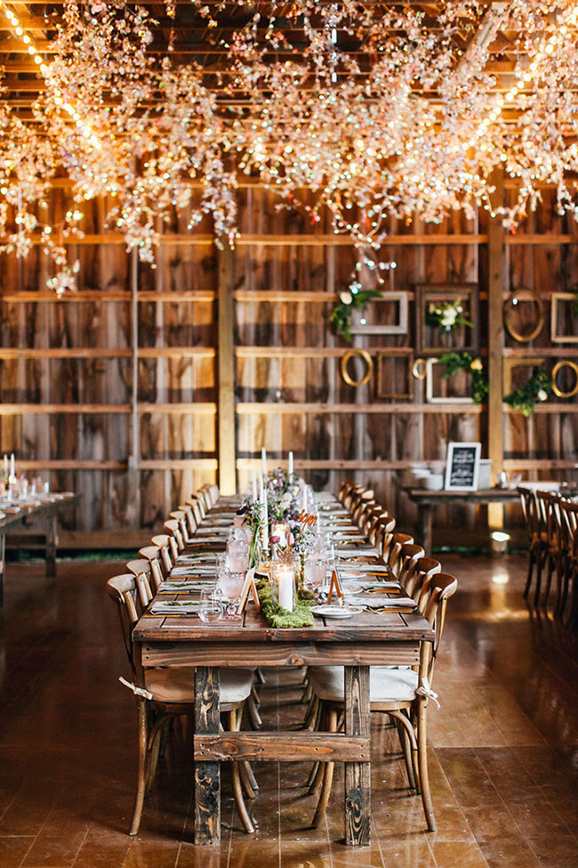 Gorgeous Barn Wedding Receptions