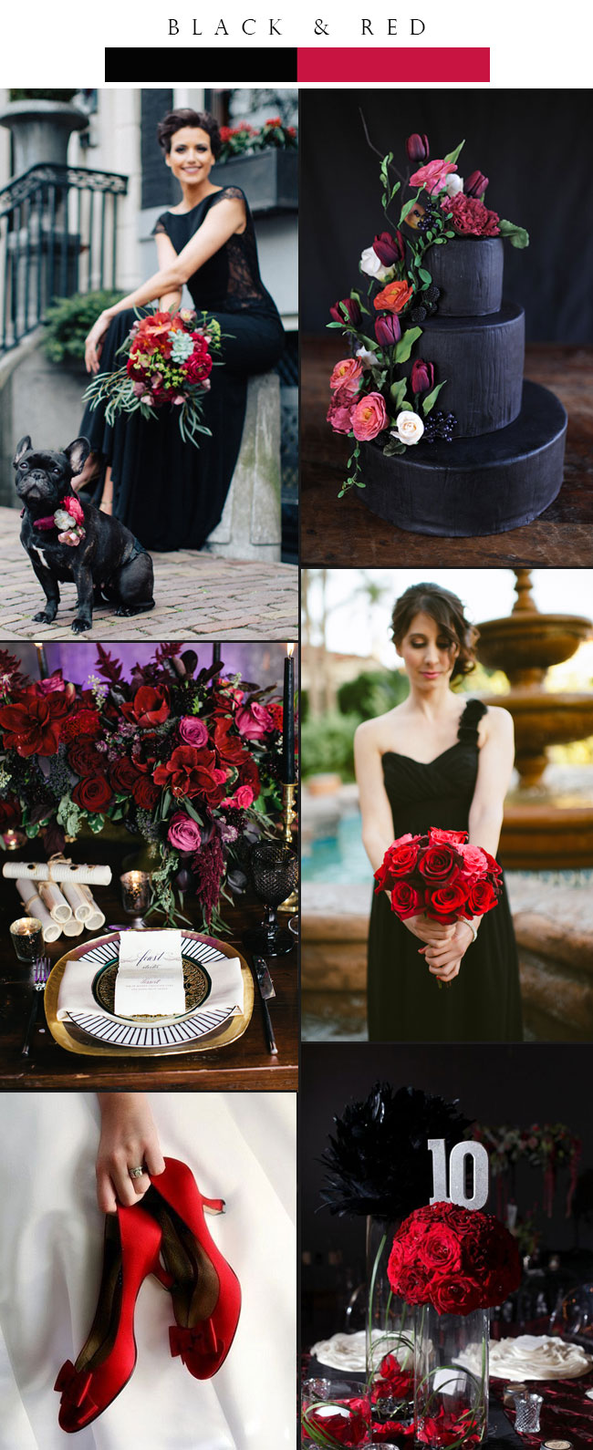 wedding ideas in red top 3 glamorous black winter wedding color palette ideas 28223