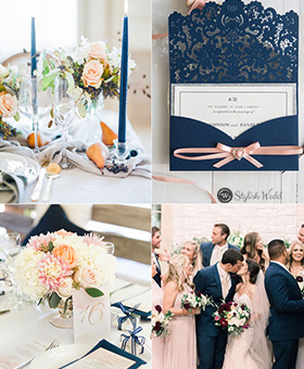 Elegant-Navy-Blue-Laser-Cut-Pocket-Wedding-Invitations-With-Blush-Ribbon-SWWS028