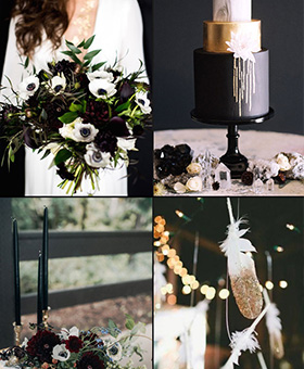 Glamorous-Black-and-Gold-Color-Palette-Inspiration-for-Winter-Weddings