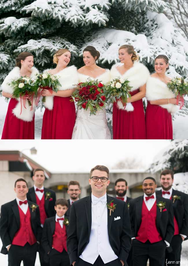 Christmas Festival Red Winter Wedding Ideas