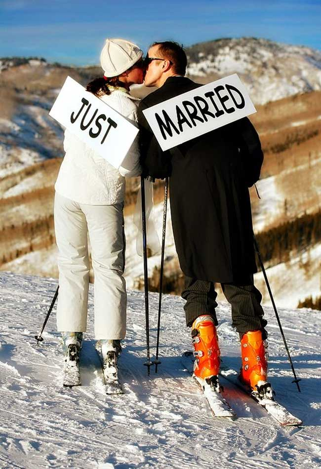 Fun Ski Themed Winter Wedding Ideas