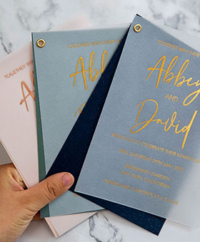 stunning-gold-foil-vellum-wedding-invites-with-colorful-shimmer-backer