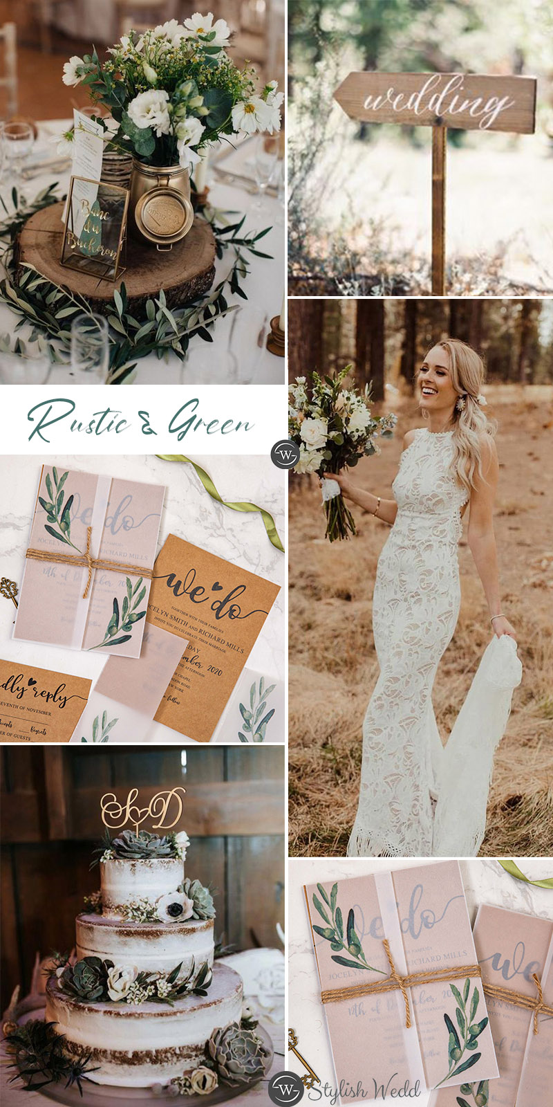 Rustic wedding ideas with greenery olive branch vellum jacket