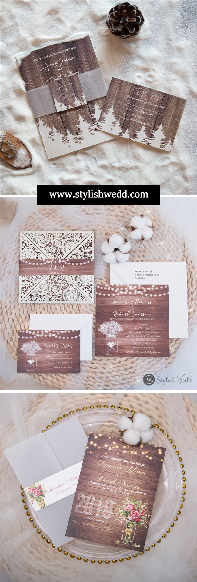 fall rustic cheap wedding invitations collection from stylishwedd