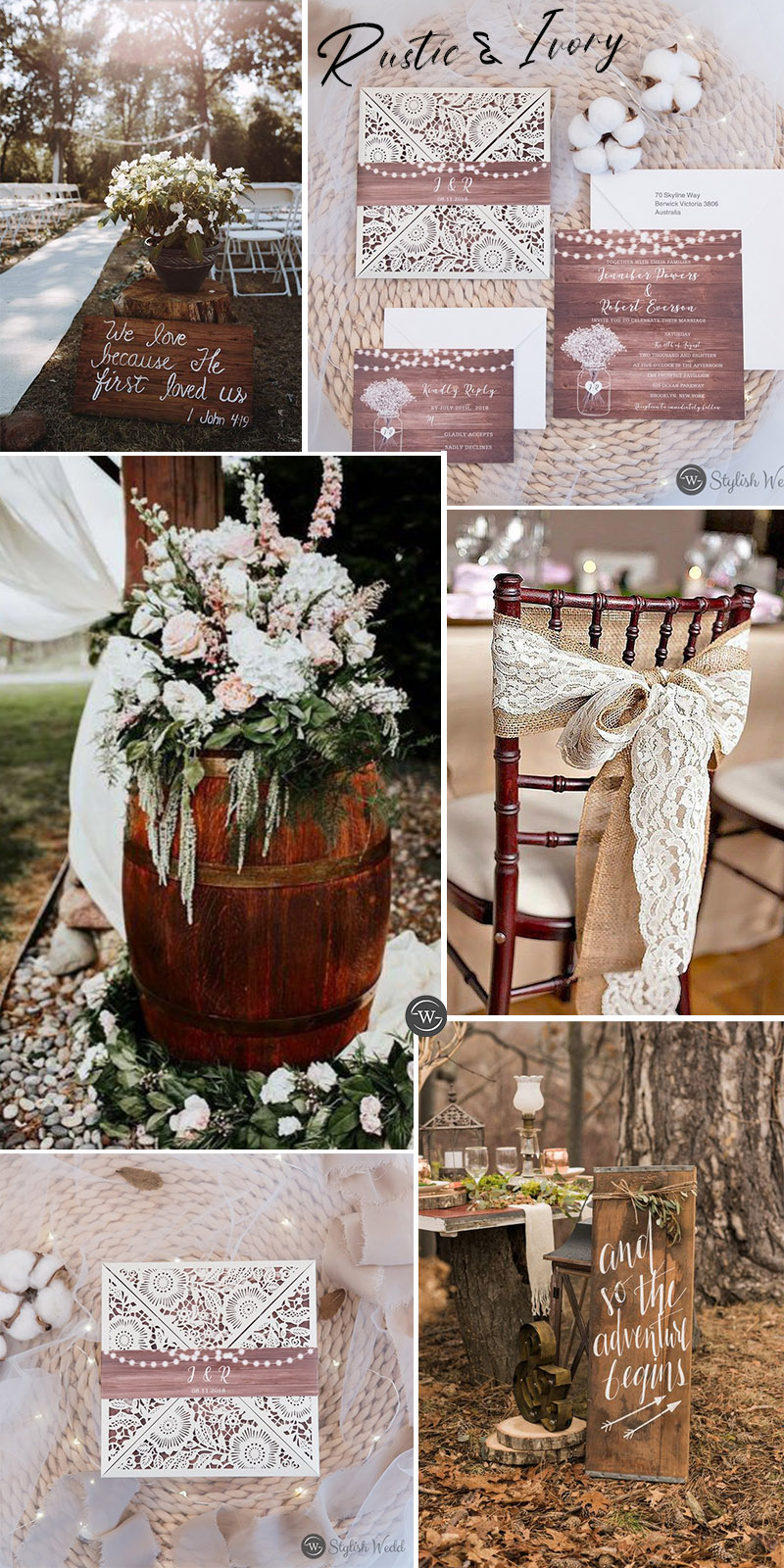 rustic ivory wedding ideas for your b
