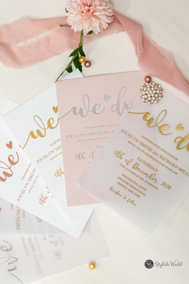 cusom foil wedding invitations