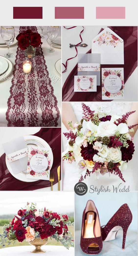 fall burgundy and blush floral wedding invitation with vellum pocket and belly band SWPI003