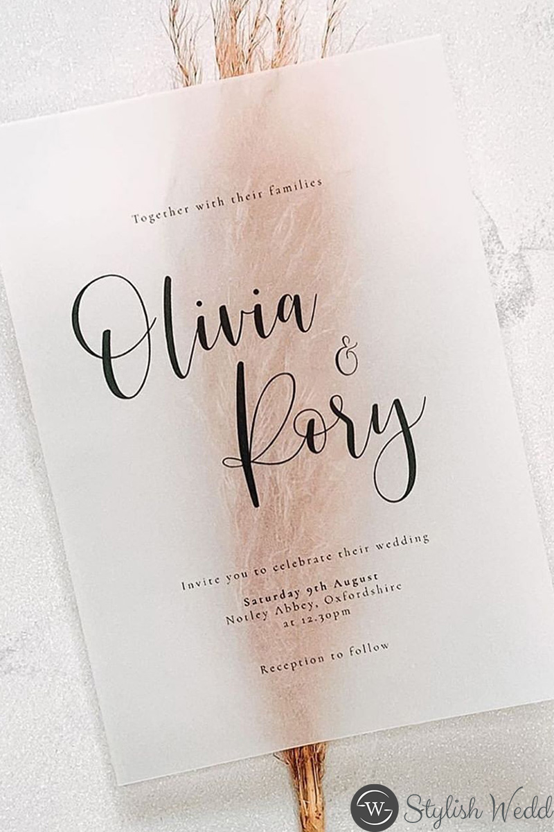 simple modern wedding invitations ideas with unique paper
