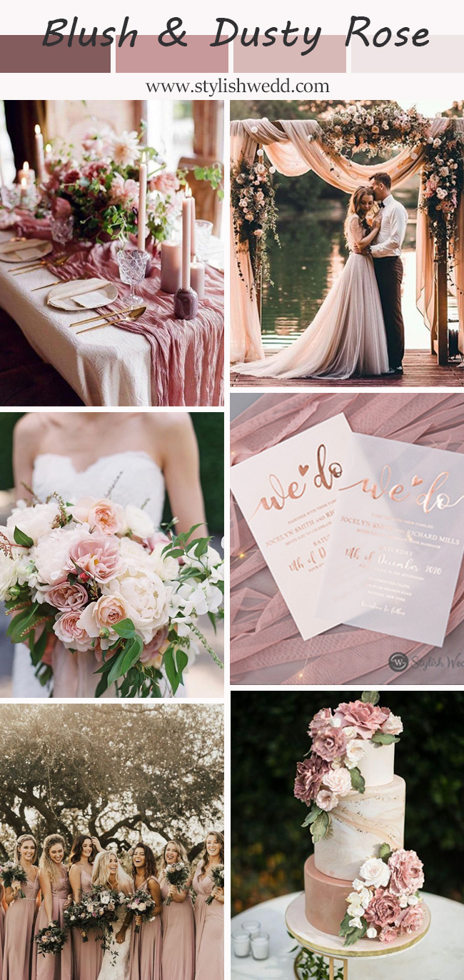 style story for dusty rose and rose gold wedding inspiration