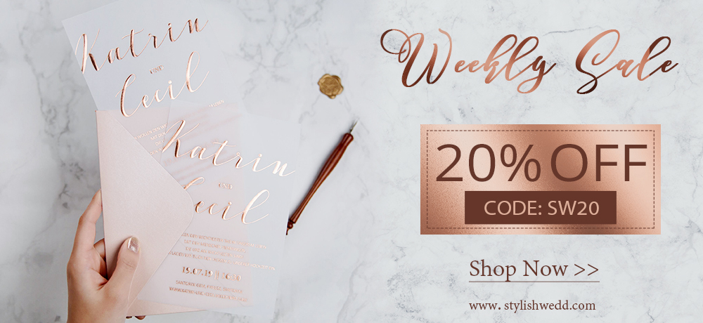 wedding invitations big sale from stylishwedd
