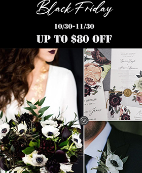 black friday hot sale wedding invitation ideas