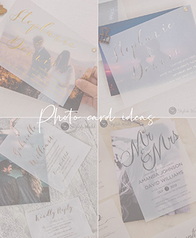 modern photo wedding invitation ideas