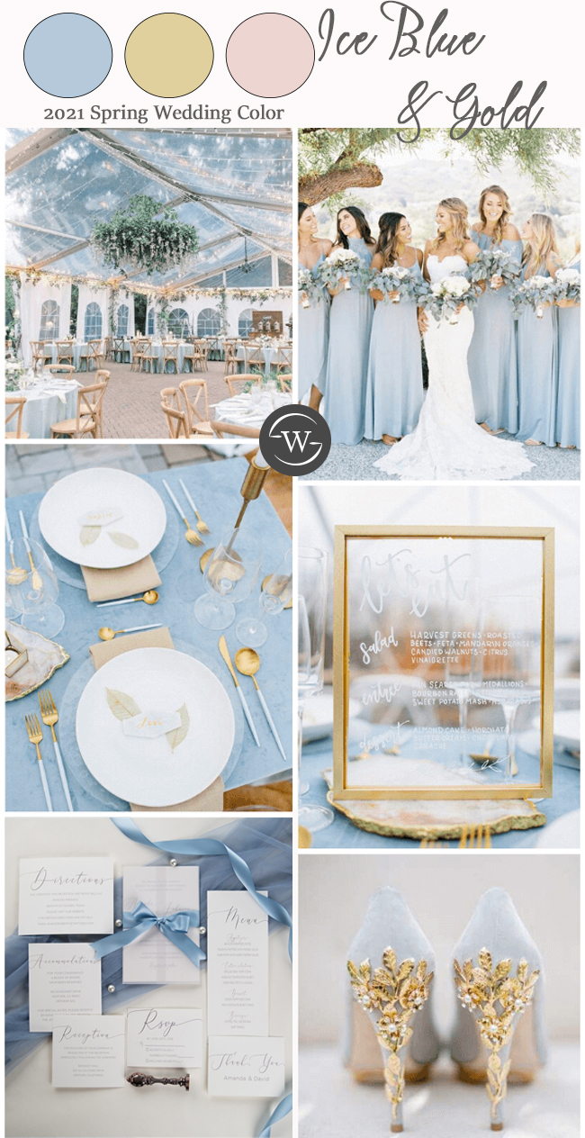 2021 trending color combo for spring summer wedding