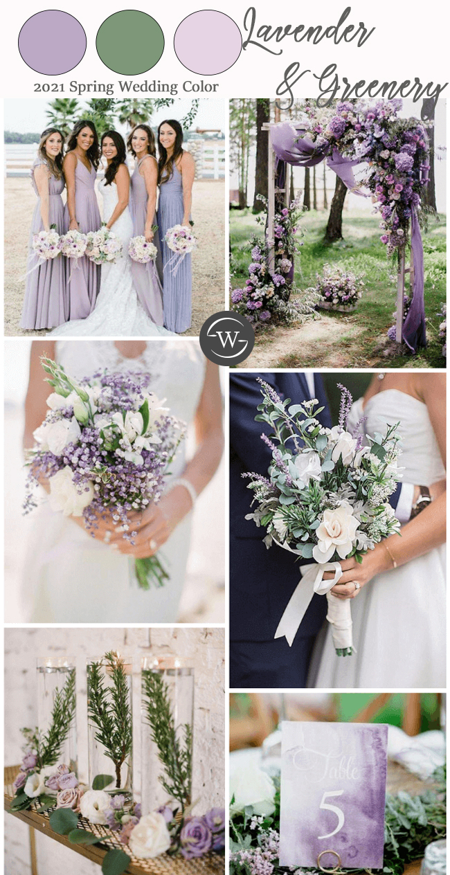 pretty shade of purple color pattern ideas prefect for spring wedding
