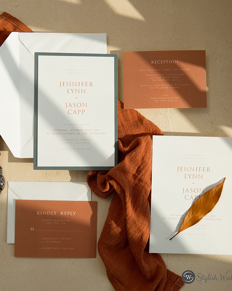 elopement wedding stationery of invitation or save the dates
