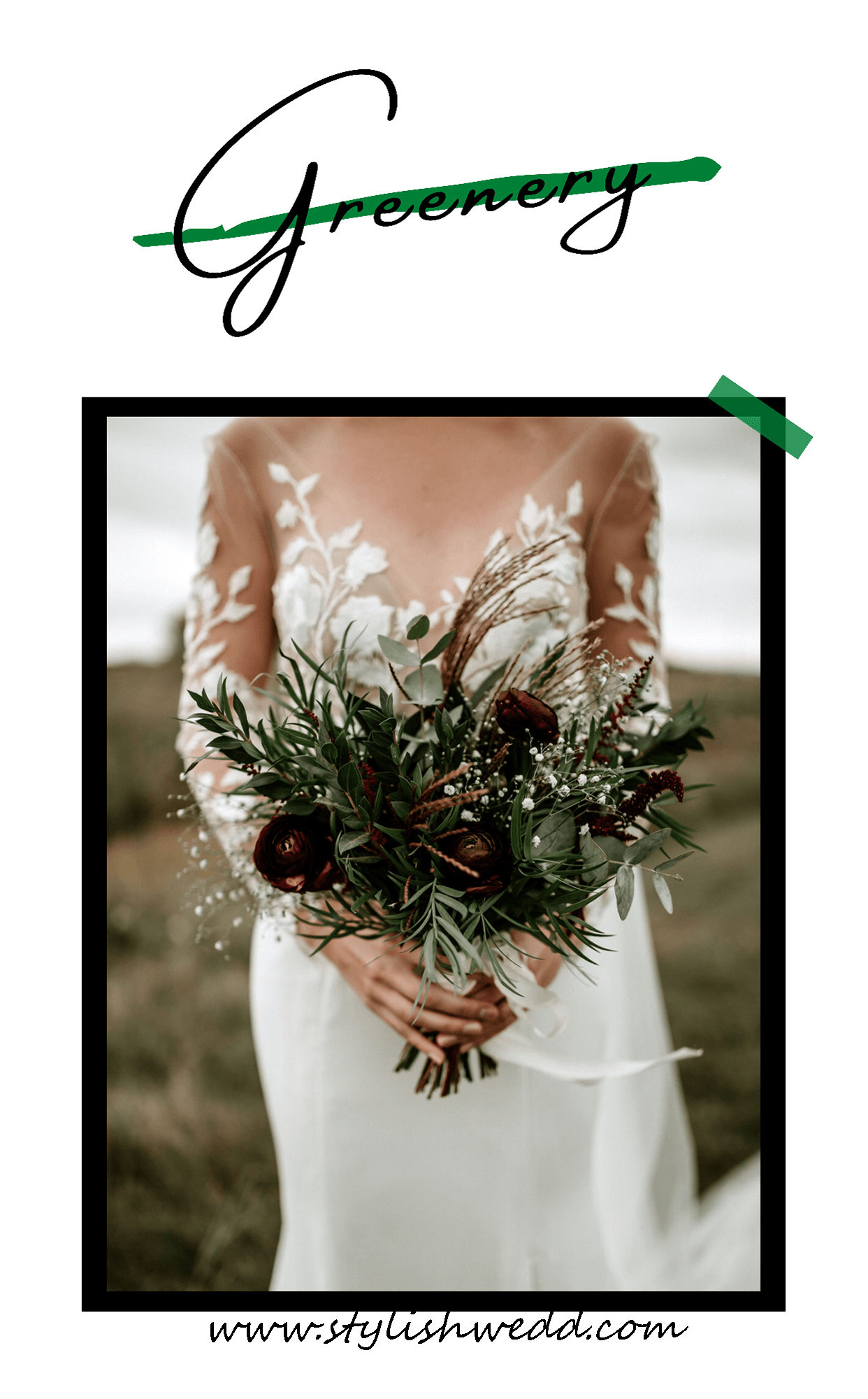 greenery autumn bridal bouquets for outdoor wedding